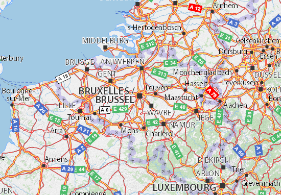 Carte-Plan Bruxelles-Capitale