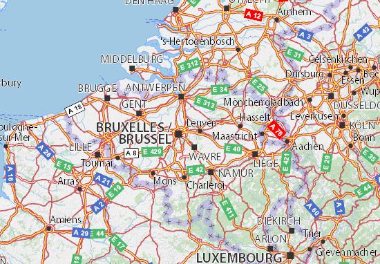 Kaart Plattegrond Vlaams-Brabant