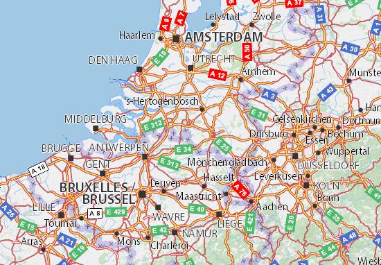 Kaart Plattegrond Noord-Brabant