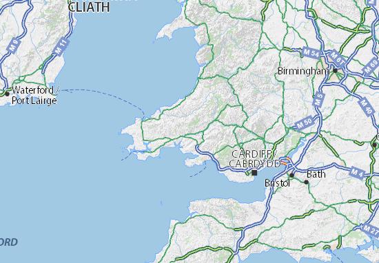 Carte-Plan Carmarthenshire