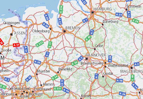 Kaart Plattegrond Niedersachsen