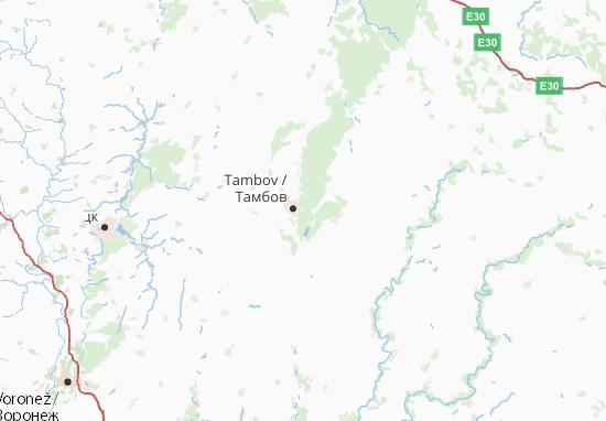 Carte-Plan Tambovskaja oblast'