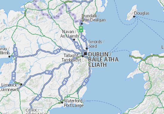 Kaart Plattegrond South Dublin