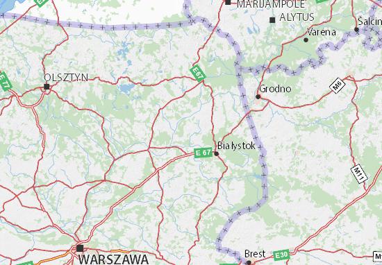 Mapa Podlaskie