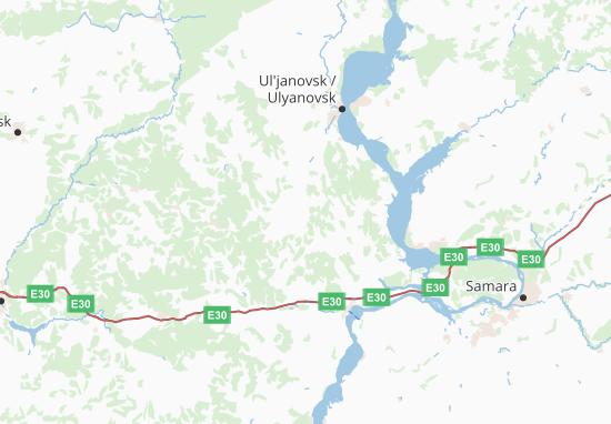 Carte-Plan Ul'janovskaja oblast'