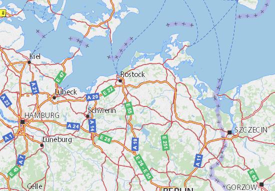 Mecklenburg-Vorpommern Map