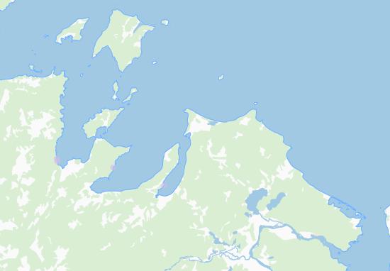 Kaart Plattegrond Habarovskij kraj
