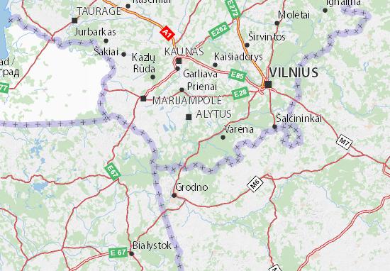 Alytaus apskritis Map