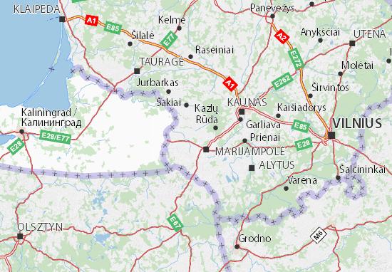 Carte-Plan Marijampolės apskritis