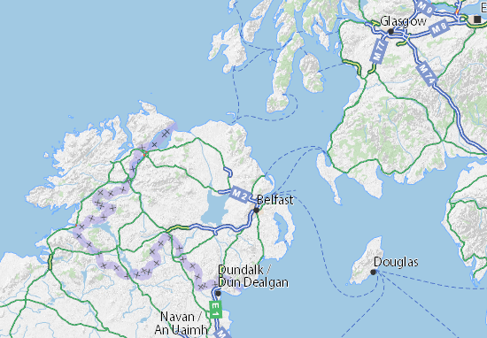 Mid and East Antrim Map