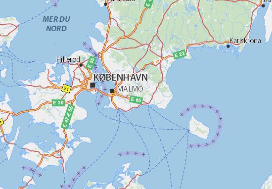 Kaart Plattegrond Hovedstaden