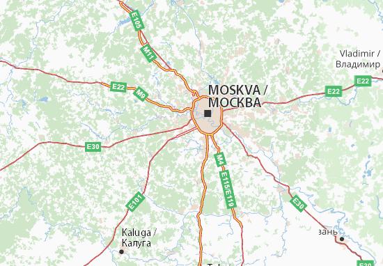Carte-Plan Gorod Moskva