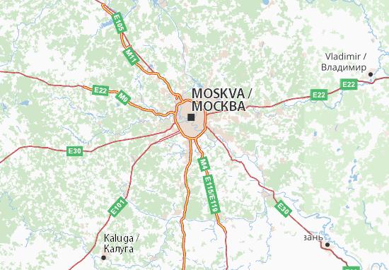 Karte Stadtplan Moskovskaja oblast'