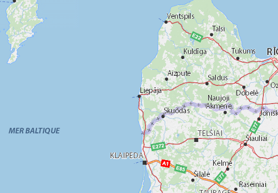 Liepāja Map