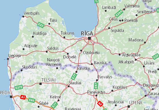 Mapas-Planos Jelgavas novads