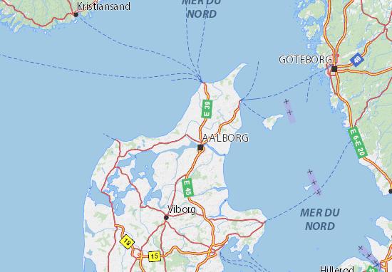 Carte-Plan Nordjylland