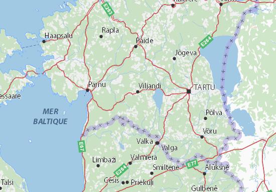 Carte-Plan Viljandimaa