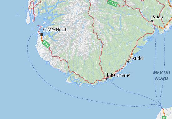 Carte-Plan Vest-Agder