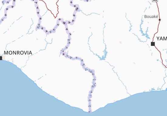 Carte-Plan Moyen-Cavally