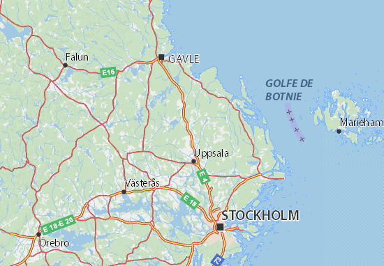 Kaart Plattegrond Uppsala län