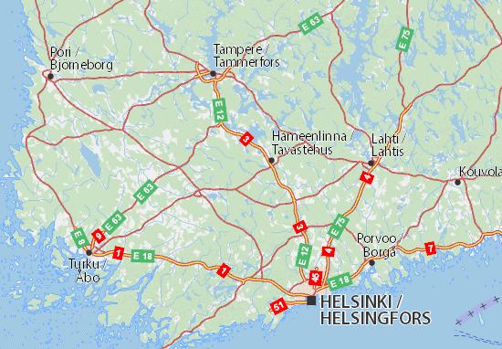 Mapa Plano Kanta-Häme