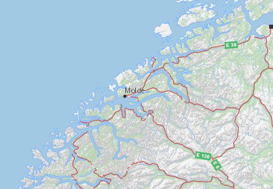 Kaart Plattegrond Møre og Romsdal
