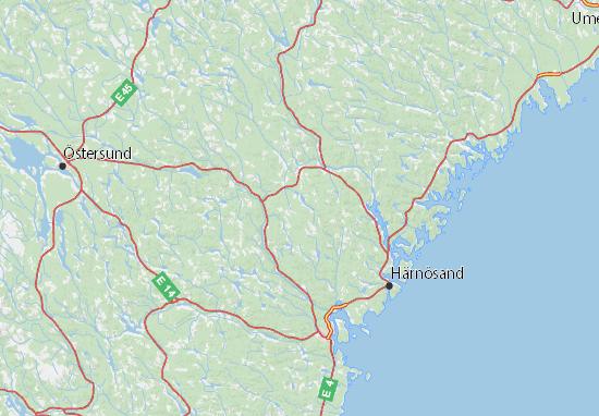 Mapas-Planos Västernorrlands län