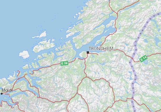 Sør-Trøndelag Map