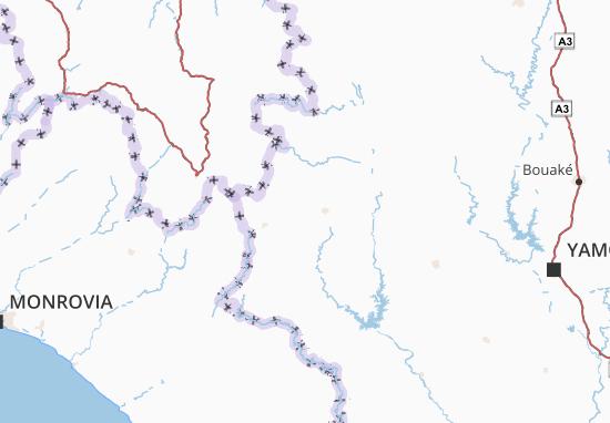 Carte-Plan Dix-Huit Montagnes