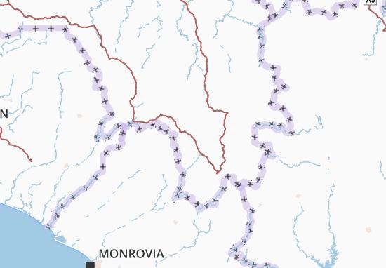 Carte-Plan N'Zérékoré