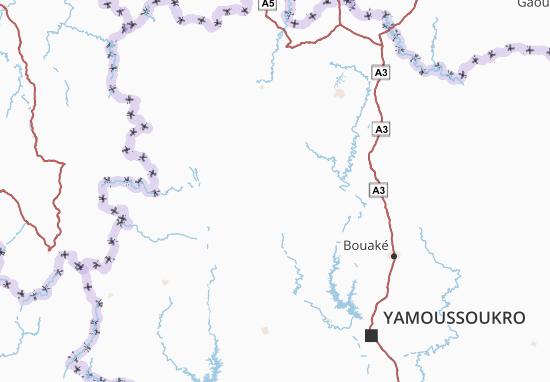 Carte-Plan Worodougou