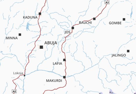 Carte-Plan Nigeria