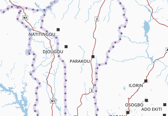 Bénin Map